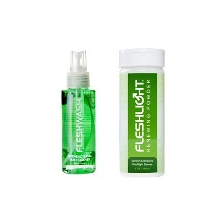 FLESHLIGHT & FLESHJACK KIT DE CONSERVACIÓN / FLESHWASH + RENEWING POWDER