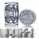 FLESHLIGHT QUICKSHOT VANTAGE ICE / MASTURBADOR TRANSPARENTE