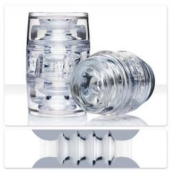 FLESHLIGHT QUICKSHOT PULSE ICE / MASTURBADOR TRANSPARENTE